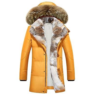 Mantel Herren Damen Winter,ABsoar Unisex Herbst Winter Kunstpelz Hoodied  Kragen Paar Mantel Baumwolle Tasche 4df39f4e8f