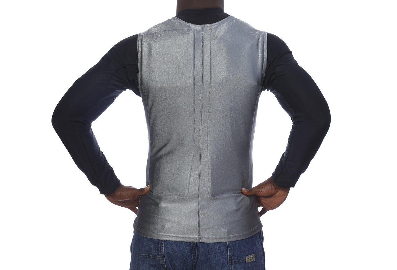 Flex Vest Cool Vest with Nontoxic Cooling Packs Gray Medium (Chest Size 36-42) by Glacier Tek (Image #2)
