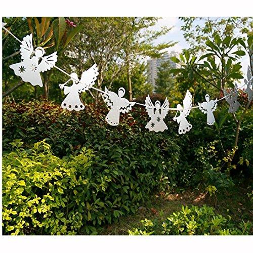 Gotd Wedding Party Angel Paper Garlands String Hanging Flag Decoration Party Dec (Silver) ()