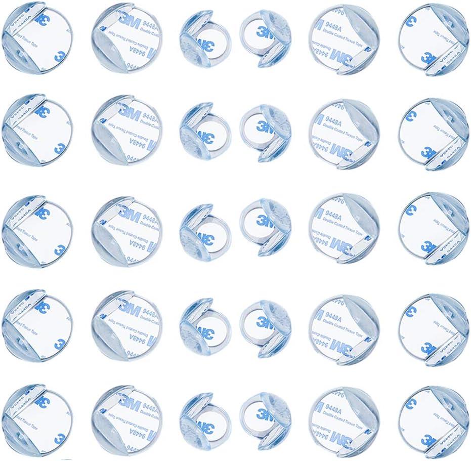 con 30Pcs Adhesivo Fuerte Portectores de Seguridad para Mesas Esquina y Aualquier Tipo de Muebles Forma Protectores de Esquinas para Bebes y Ni/ños DXIA 30Piezas Protectores de Esquinas