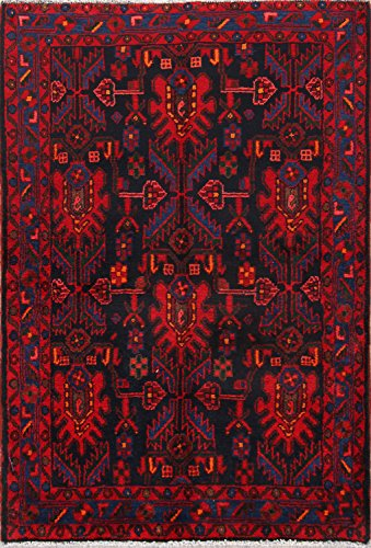 Rug Source Geometric 5 Traditional Nahavand Hamadan Persian Handmade Area Rug for Office (5' 3'' X 3' 8'') Wool Hamadan Persian Area Rugs