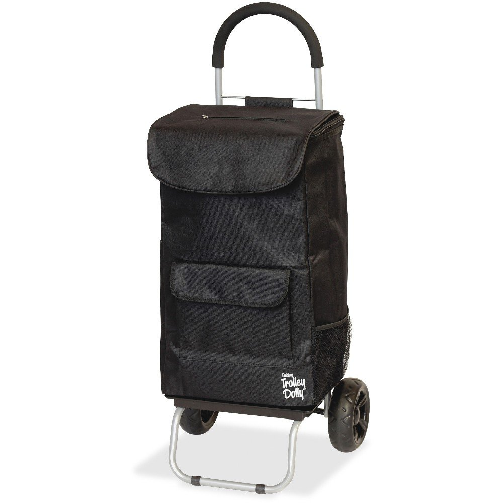 Dbest Shopping Trolley Dolly - 110 lb Capacity - 16'' Width x 13'' Depth x 38'' Height - Aluminum Frame - Black DBE01517