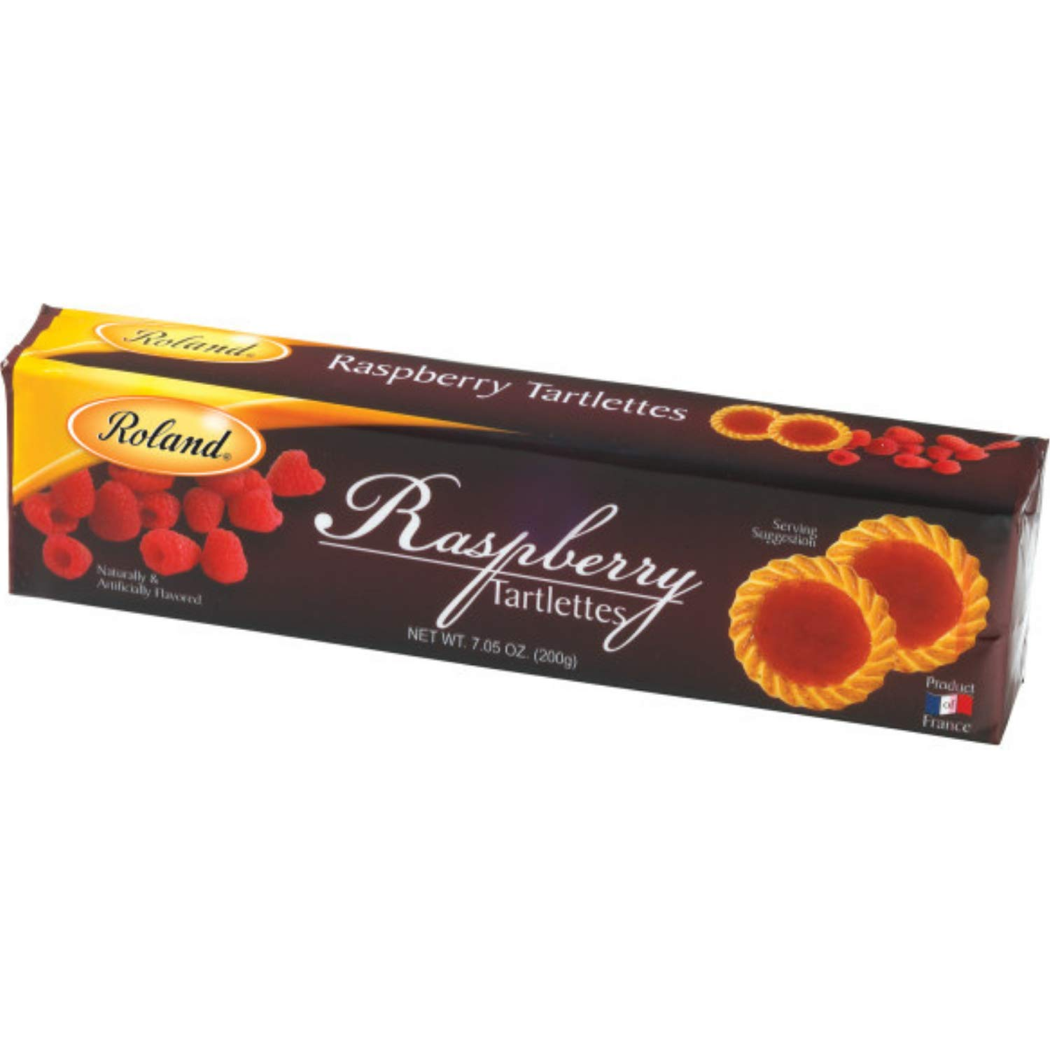Roland Foods Raspberry Tartlette Cookies, Specialty Imported Food, 7.05-Ounce Box