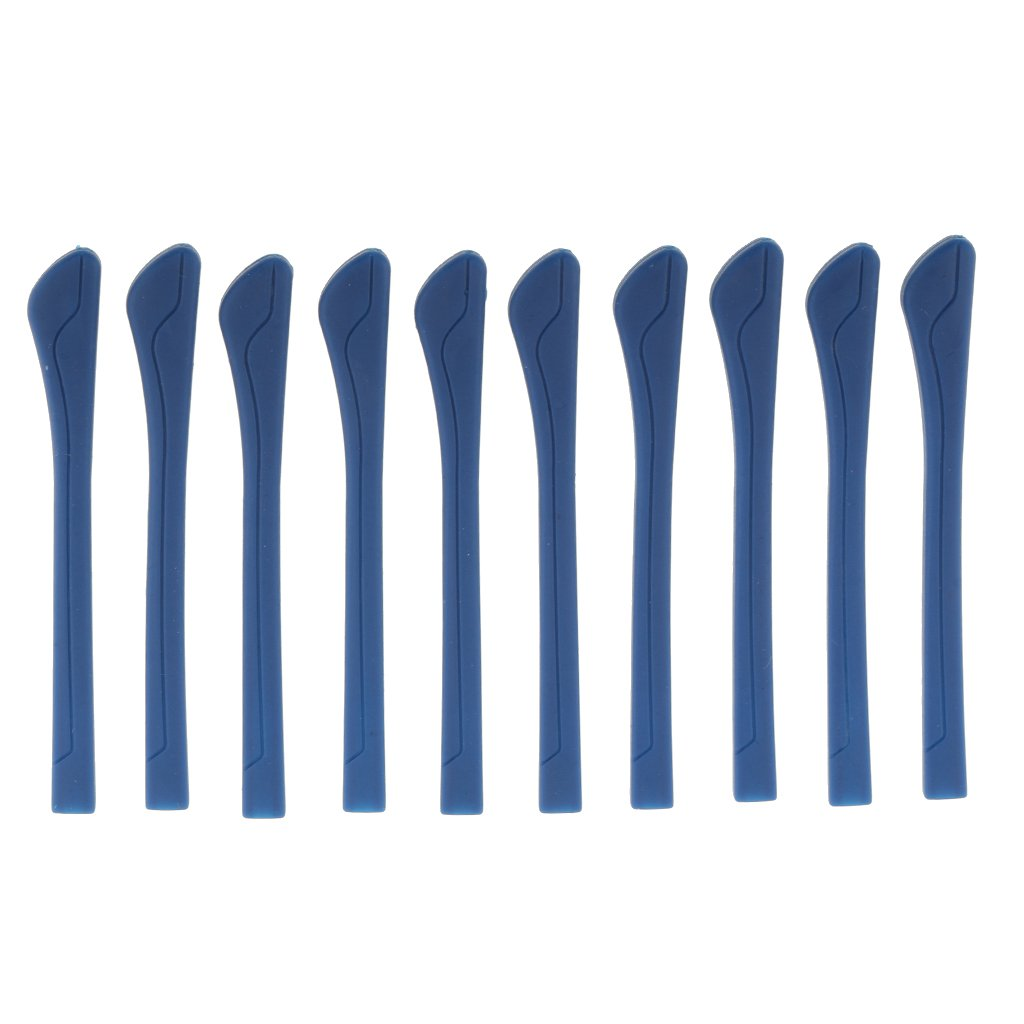MagiDeal 10 Stück Bügelenden Sportbrille Brillenbügel, Rutschfest Design Rutschfest Design - Blau