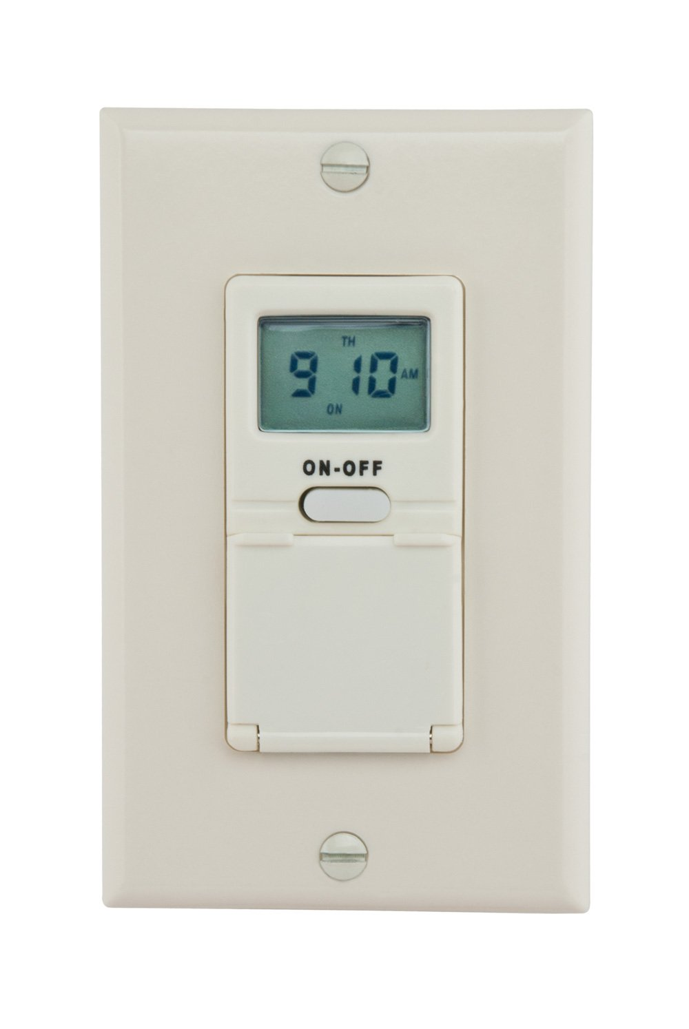 Reliance Controls Corporation WE7000A Digital 7-Day in-Wall Timer Back up Battery, Light Almond by Reliance Products