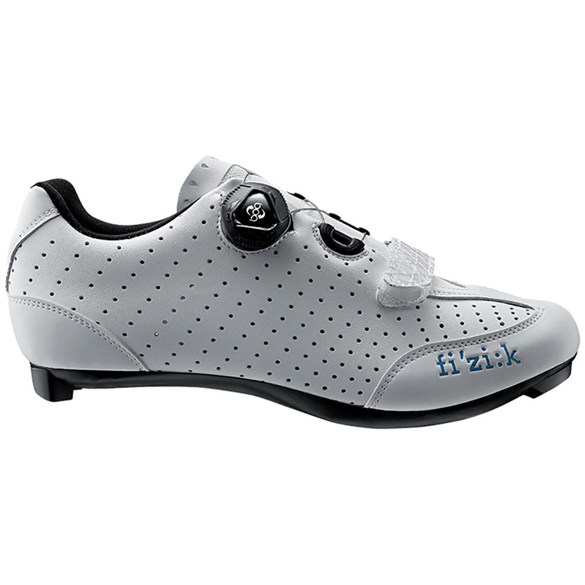 Fizik Women's R3B Donna Boa Road Sport Cycling Shoes - White/Turquoise (White with Turquoise Trim - 41.5)