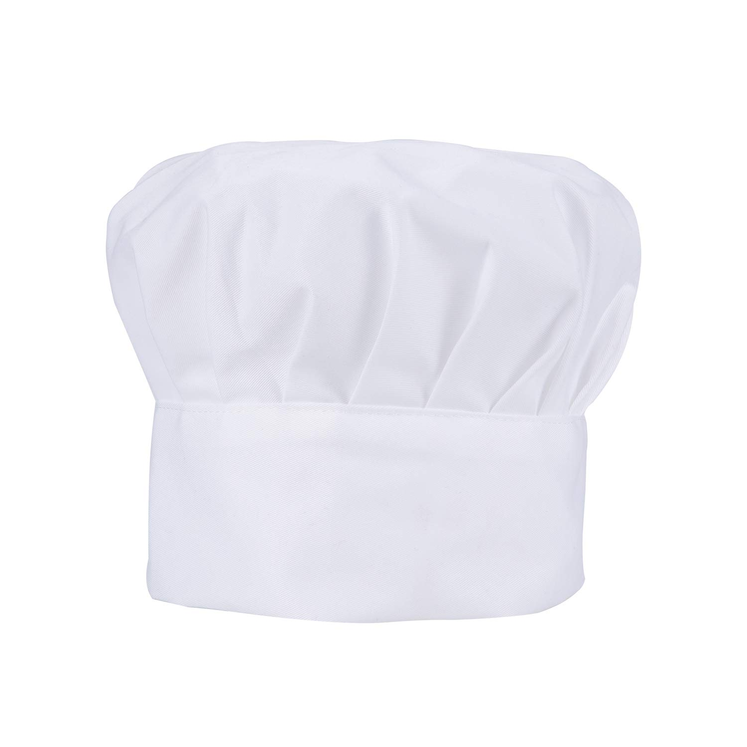 Homsolver 2 Pieces Chef Hat with Comfortable Durable Cotton Materials and Adjustable Size for Adults White