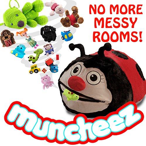 Muncheez Stuffed Animal Toy Organizer for Children, Ladybug (Where To Buy Big Teddy Bears)