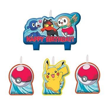 Amazon.com: Pokemon vela de cumpleaños Set: Beauty