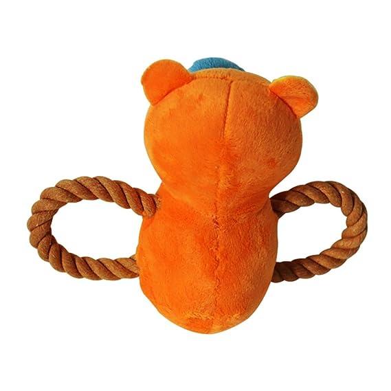 orso di cervo morbido eccellente con il giocattolo del suono del cane della corda di cotone Cane cigolante per i piccoli animali Giocattoli di addestramento degli animali domestici Forniture per l'istruzione Giocattolo della peluche del cane