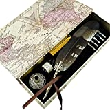 GC Quill Pen Mysterious Beautiful Feather Writing Quill 6 Nibs Pen Holder GCER08