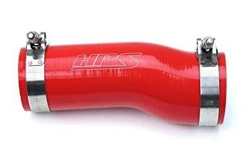 HPS Red Reinforced Silicone Post MAF Air Intake Hose Kit for 17-18 Honda Civic
