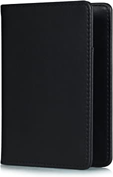 Leather Passport Holder Wallet Cover Case RFID Blocking Travel Wallet Japan Tv