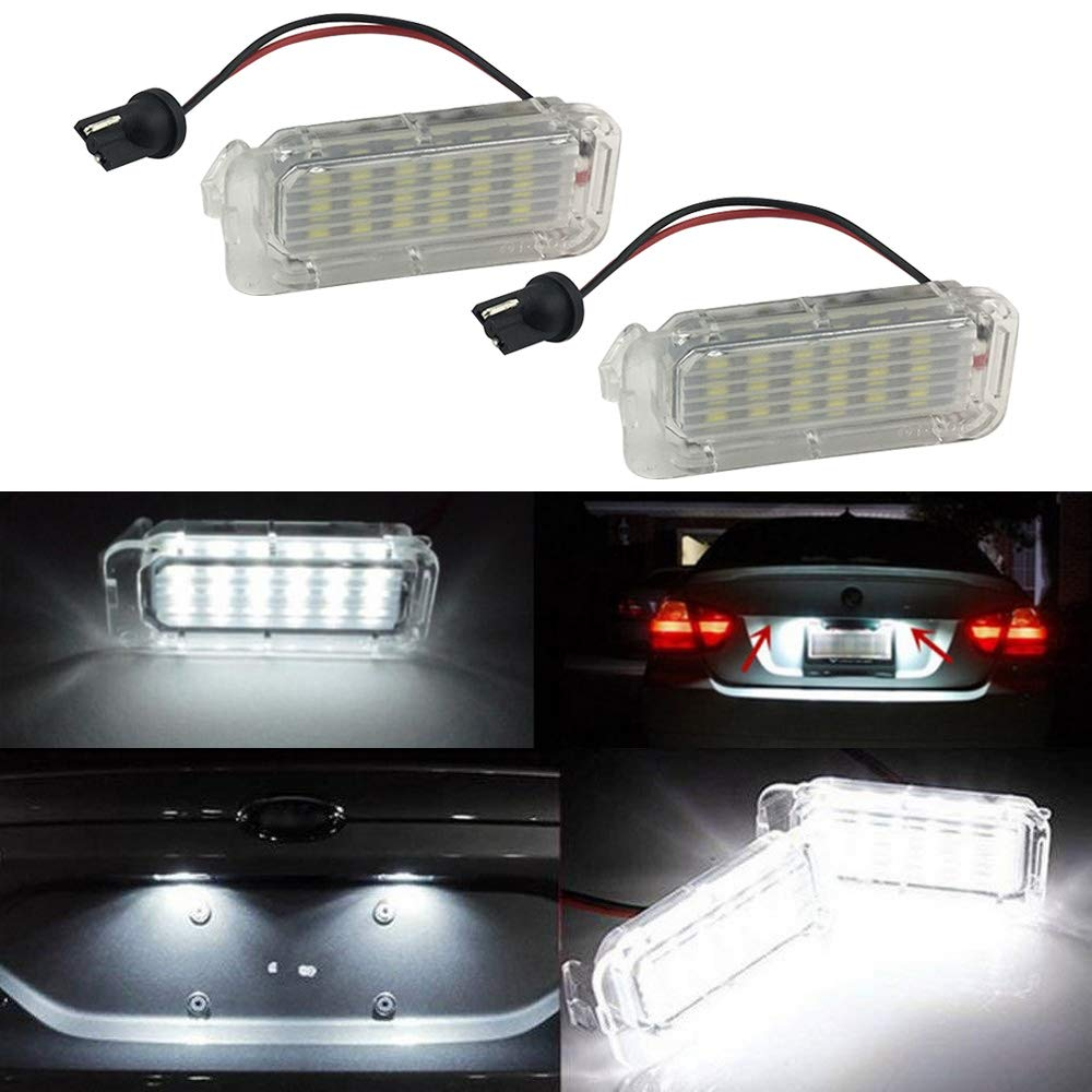 Luci LED per targa per Ford Focus Fiesta Mondeo mk4 kuga Galaxy s-max c max mk2 da3 mk3 mk5 mk6 18 LED