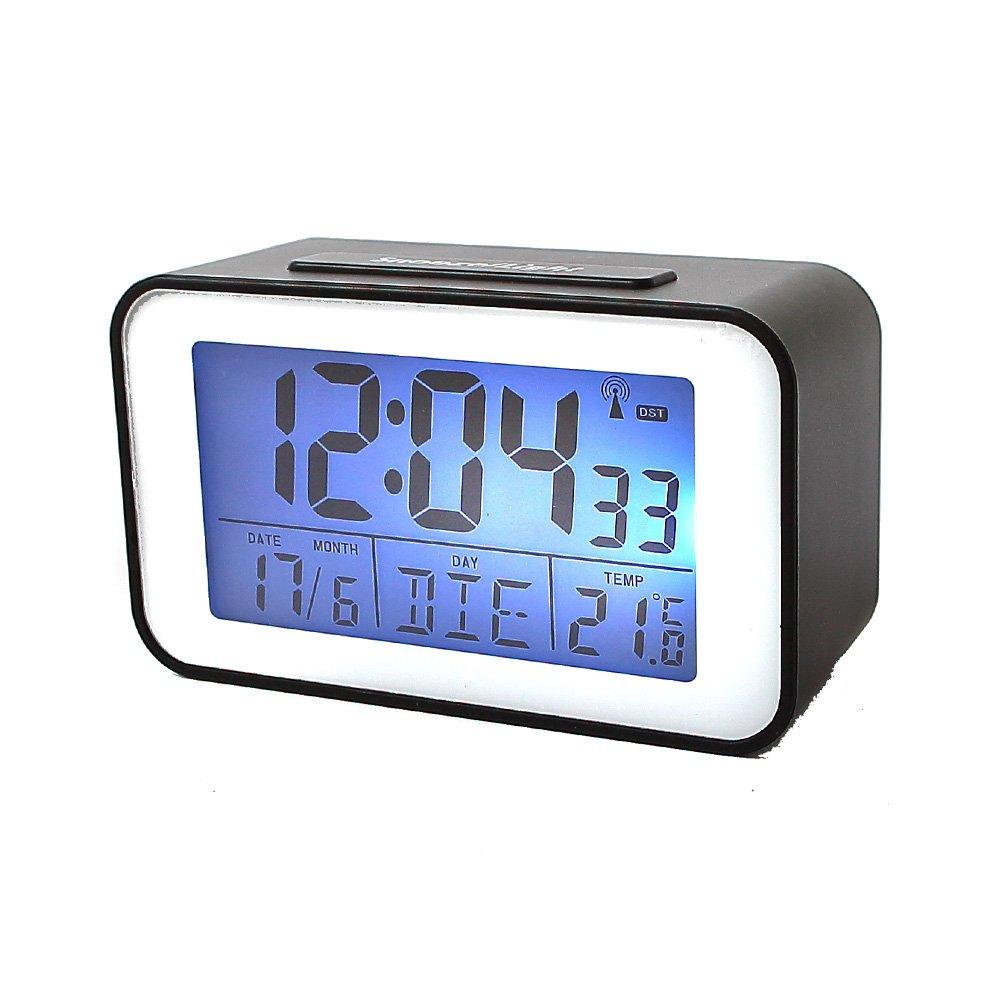 Soytich Horloge avec Thermom/ètre R/éveil Radio-R/éveil en Noir SN4491s