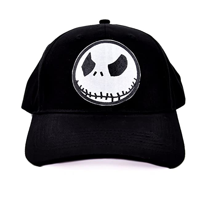 a14480e2f807b Image Unavailable. Image not available for. Color  Evil Grin Jack  Skellington Hat Baseball Cap Goth Clothing Nightmare Before Christmas