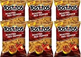 NEW Tostitos Roasted Red Pepper Chips Blended With MultiGrains-10 oz. (6)