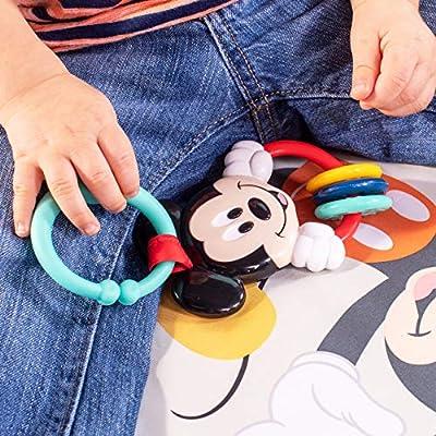 Disney Baby Alfombrilla con Cojin de apoyo y Juguetes de MICKEY MOUSE Camping With Friends/™
