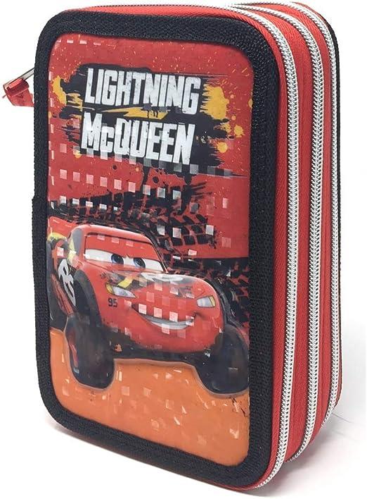 Cars- Estuche Escolar Mcqueen Disney Pixar 3 Cremalleras, Multicolor, CA0454: Amazon.es: Juguetes y juegos