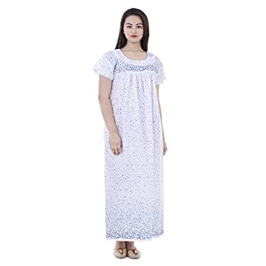 aef26f1584 Image Unavailable. Image not available for. Color  Women Cotton Floral Printed  Night ...