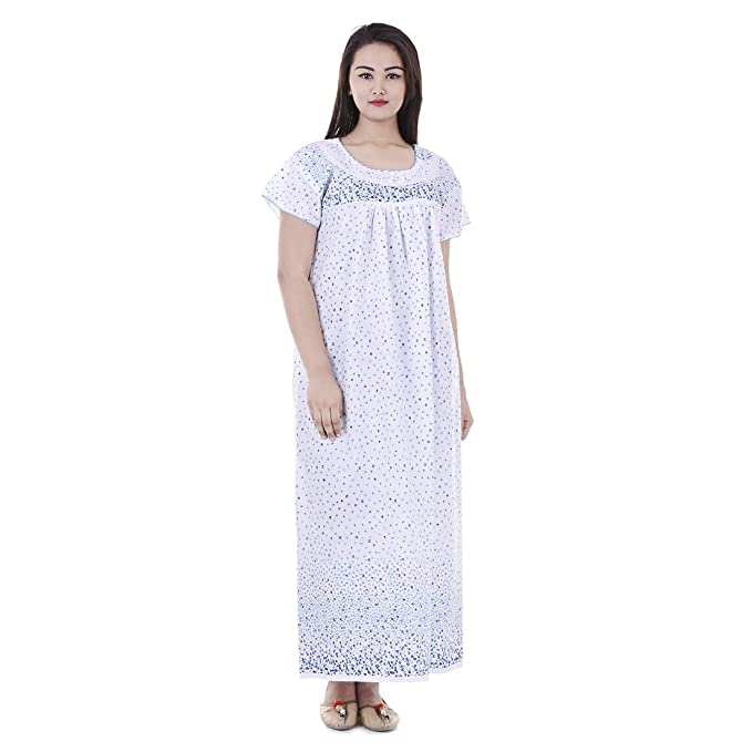 7a0e4fb539 Image Unavailable. Image not available for. Color  APRATIM Womens Nighty  Nightwear Gown Cotton Maxi Dress Sleepwear Nightgown Bikini Cover Beachwear