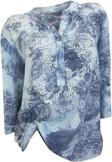 POLP Camisetas y tops Blusas de Vestir Mujer Manga Larga con ...