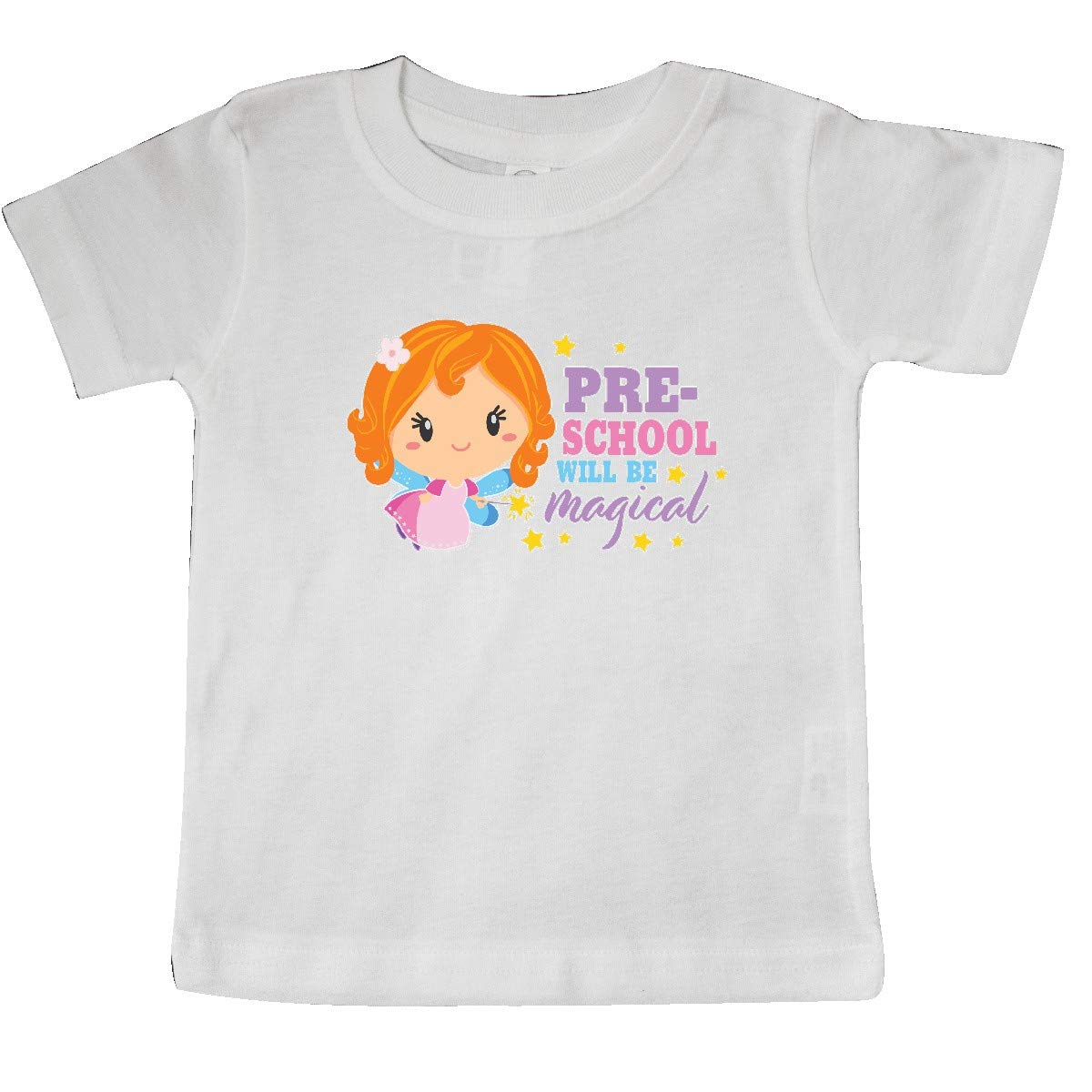 inktastic Preschool Will Be Magical with Red Haired Fairy Baby T-Shirt
