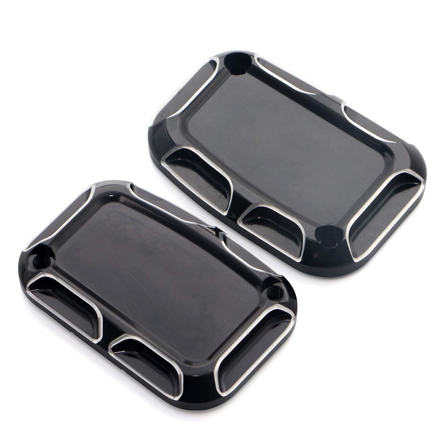 CNC Left Brake Master Clutch Cylinder Covers For Harley Touring Electra Glide Road Glide Road King Street Glide 2008-2014