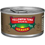 Genova Solid Yellowfin Tuna In Olive Oil, 3 oz Tins (Pack Of 8)