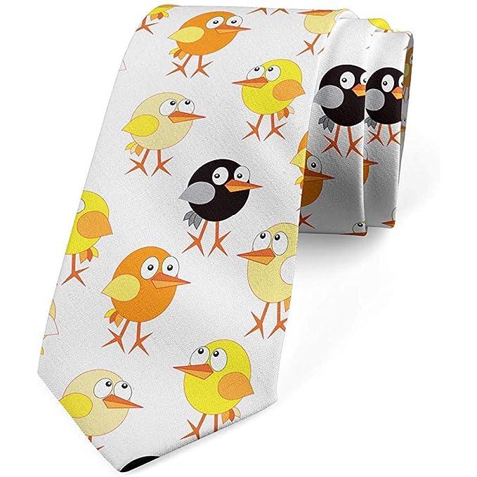 Corbata, dibujos animados coloridos de pollo bebé, naranja ...