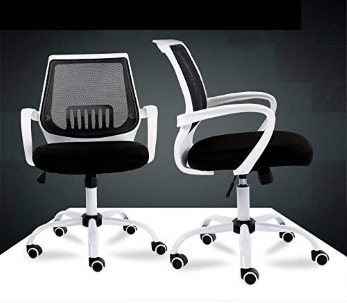 Kontorsstol LHY datorstol hem lat stol svängbar stol med bekväm ryggstöd hållbar (färg: Vit) Vitt