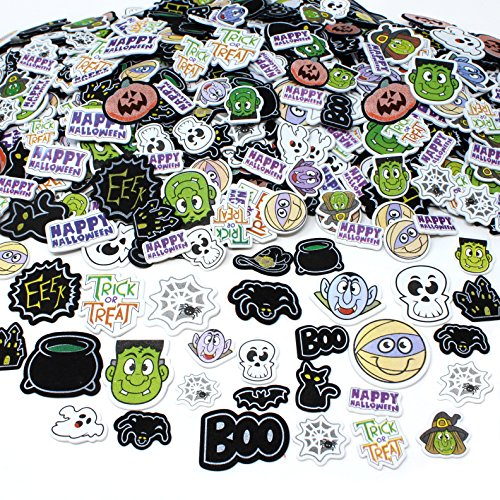 Joyin Toy 500 Pieces Halloween Foam Craft Stickers Assortment Halloween Scrapbook Stickers Self Adhesive Shapes for Halloween Craft Supplies, Halloween Novelty and Halloween Party Favors (Halloween Craft Classroom Party)