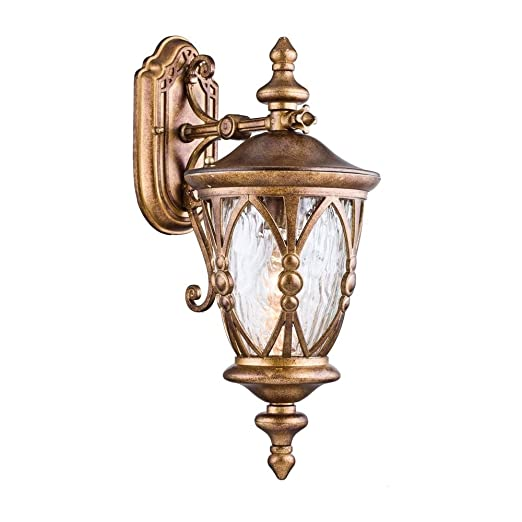 Vintage Outdoor Wall Lights Vintage antique outdoor wall light lantern golden metal colour clear vintage antique outdoor wall light lantern golden metal colour clear glass shade in victorian style 1 workwithnaturefo