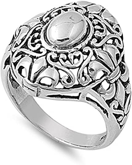Sterling Silver Woman/'s Celtic Fashion Ring Beautiful 925 Band 21mm Sizes 4-13
