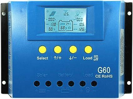 Solar Laderegler PWM Panel Controller Regulator 12V//24V 10A-60A Dual USB 5V//2.5A