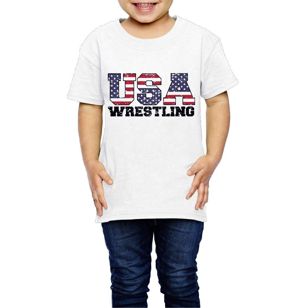 XYMYFC-E USA Wrestling 2-6 Years Old Children Short Sleeve T-Shirt