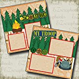 SCOUTING - Premade Scrapbook Pages - EZ Layout 2134