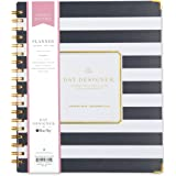 "Day Designer for Blue Sky 2018 Weekly & Monthly Planner, Hardcover, Twin-Wire Binding, 8"" x 10"", Navy Stripe"