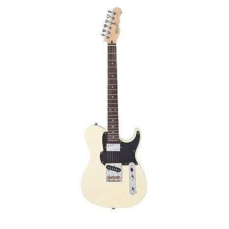 fret-king Country Squire – Guitarra eléctrica, color vintage blanco