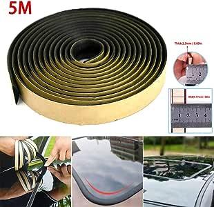 L-DiscountStore Moldura de molduras de Tiras Selladas Adhesivas de 5M para el Sello Triangular de la Ventana del Techo Solar del Parabrisas del Coche