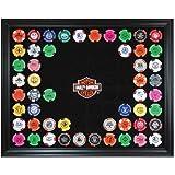 Harley-Davidson Bar & Shield Chip Collector's Frame, Holds 76 Poker Chips 6976