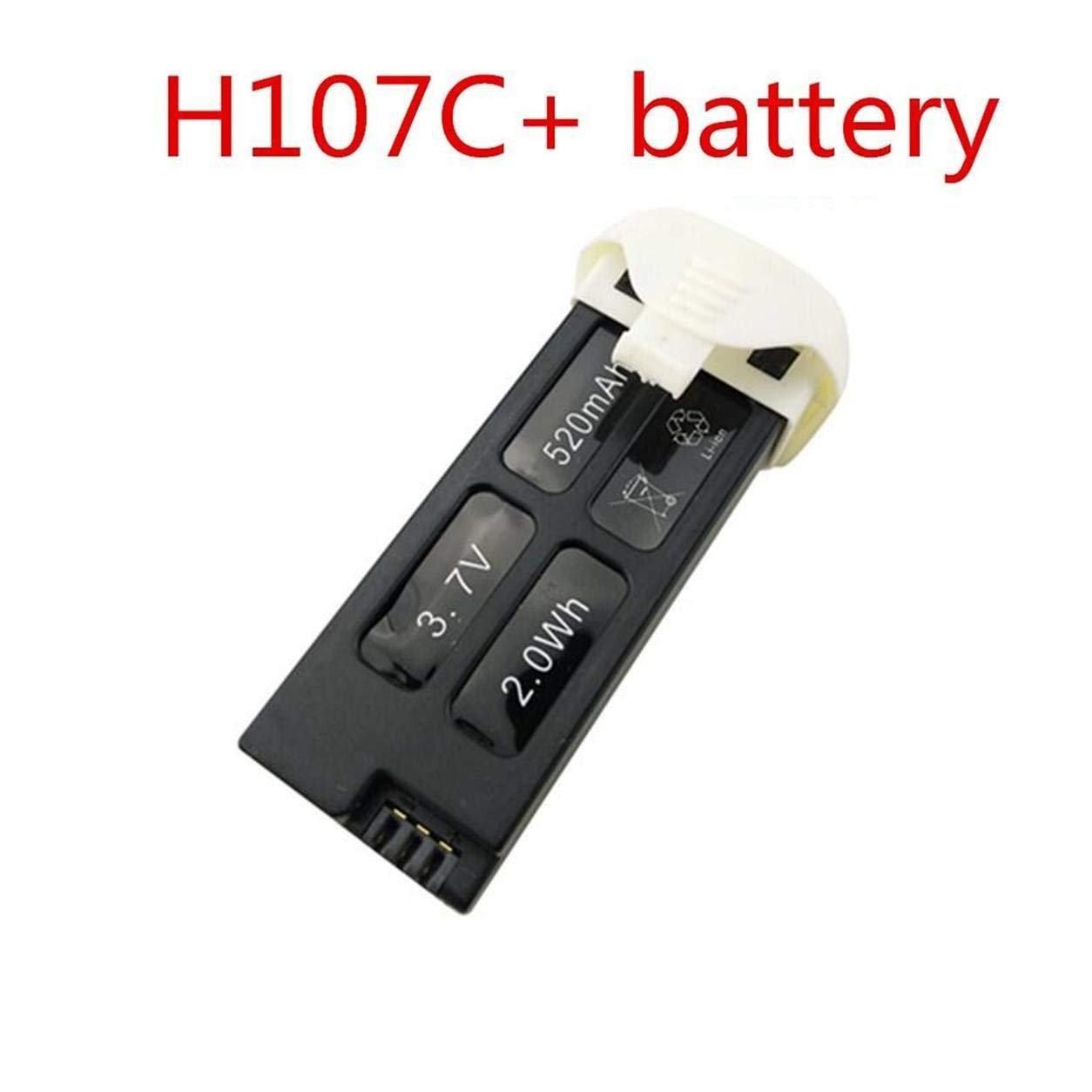 Fytoo 3PCS 3.7V 520mah Lipo Batería para Hubsan X4 H107C + Hubsan ...
