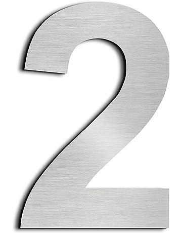 Nanly House Número 5 Cinco hecho de acero inoxidable 304 sólido flotante apariencia 20,5