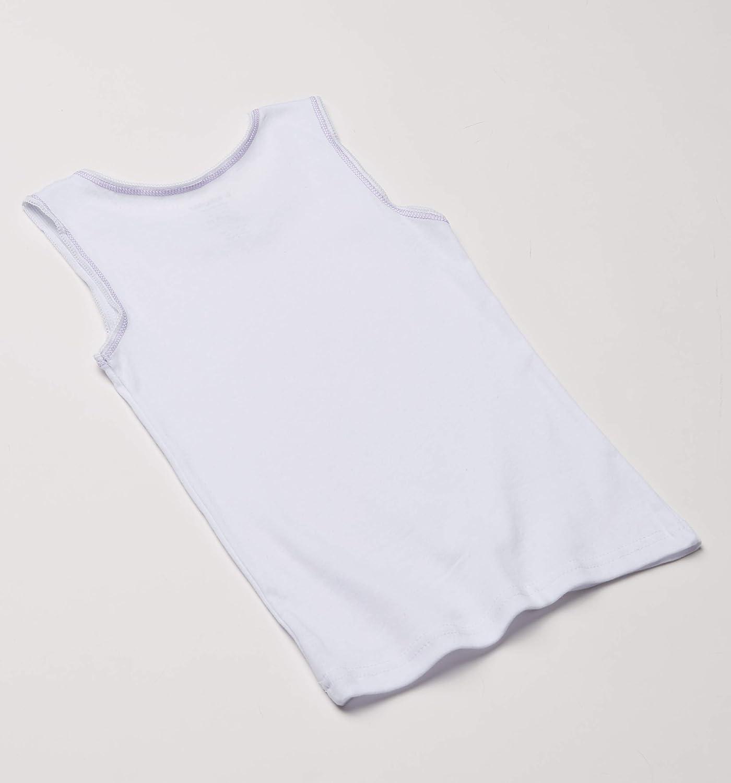 Buyless Fashion Boys Soft 100/% Cotton White Scoop Neck Undershirt Vest 4 Pack 6-7 Years Size