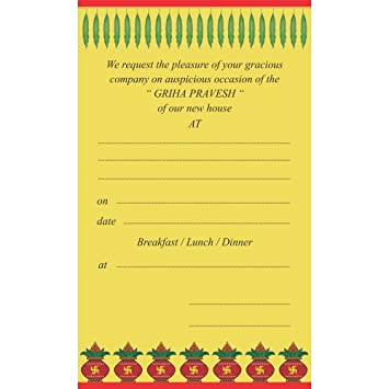 The Invitation Cards House Warming Themed Pack Of 30cards
