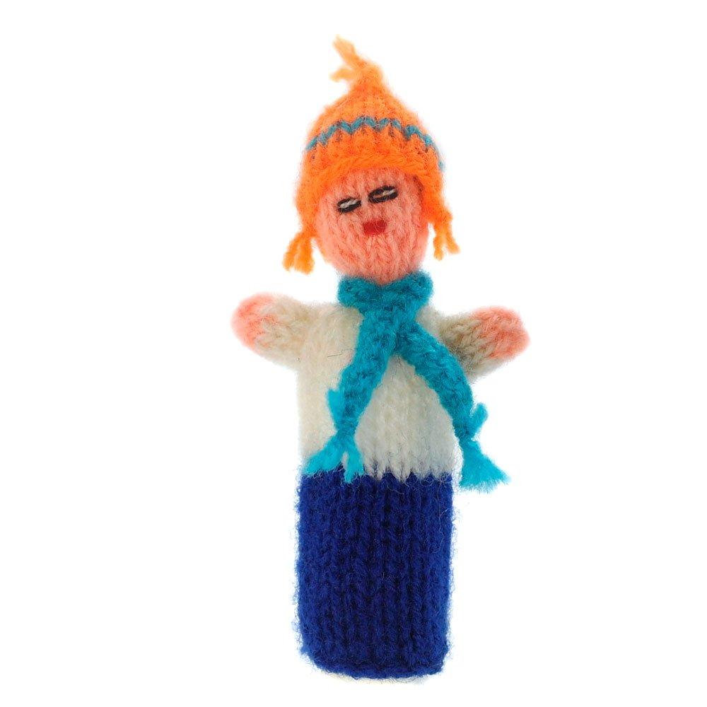 Fingerpuppe Andino Kasperltheater Spielzeug zum Spielen und Lernen handgestrickt aus weicher Wolle fü r Baby und Kinder Willy' s Manufaktur FP 8767