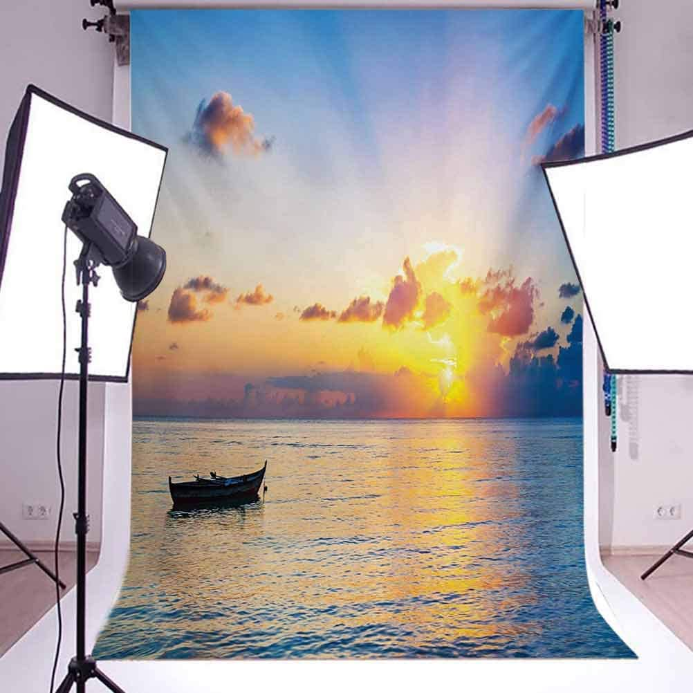 Landscape 10x15 FT Photography Backdrop Sun Rising Over Ocean on Maldives Seascape Photo Majestic Morning Scenery Background for Baby Shower Bridal Wedding Studio Photography Pictures