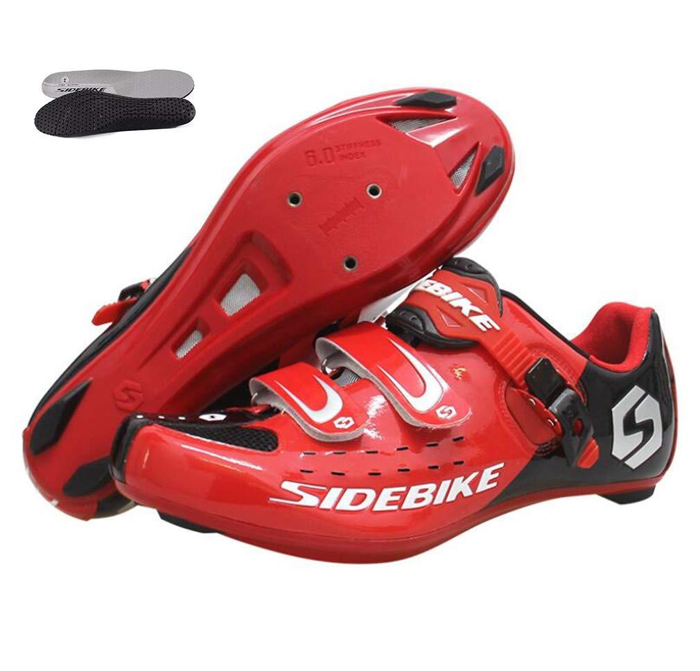 DUBAOBAO Herren- und Damenfahrradschuhe, atmungsaktive Rennradschuhe, Nylon-Verschlussschuhe, geeignet für Männer und Frauen, tragbare Schnallendesign