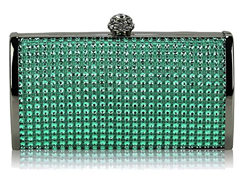 Gorgeous Clutch FREE DELIVERY Teal Evening SAVE Sparkly Crystal UK 50 Bag prrnI8