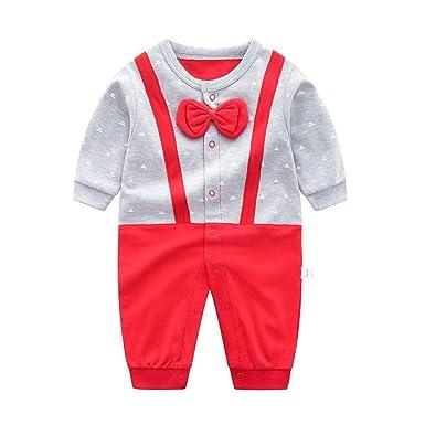 Recién Nacido Pelele Bebé Niño Pijama de Algodón Mameluco Tuta Trajes 0-12 Meses